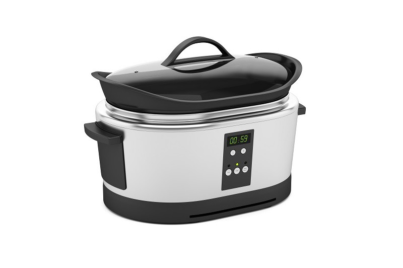 Slow cooker with a timer