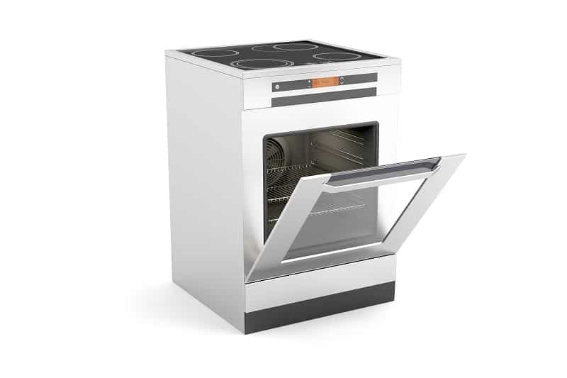 Oven with drop down door