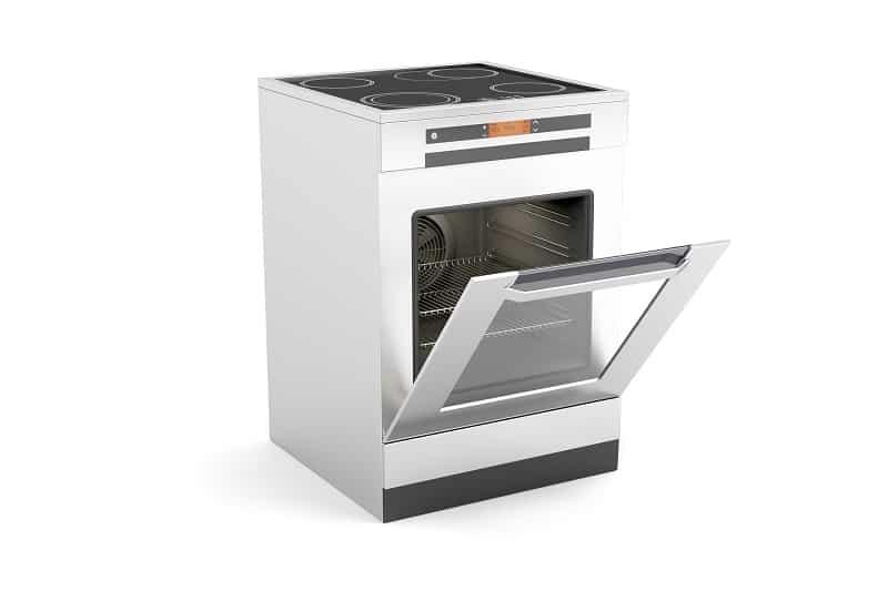 Oven with drop down door