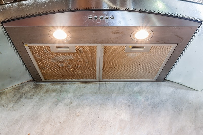 Cooker hood with removable grease filters
