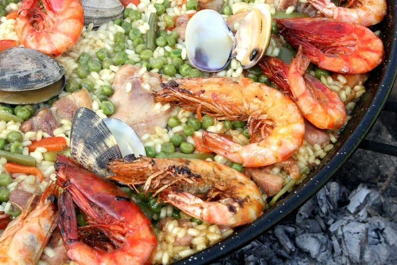 Close Up of Paella