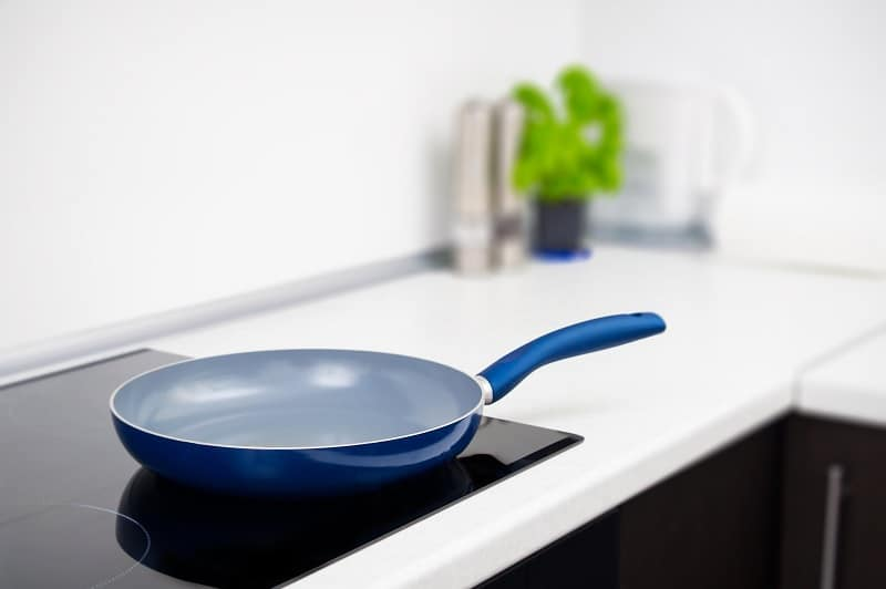 Ceramic pan on induction hob