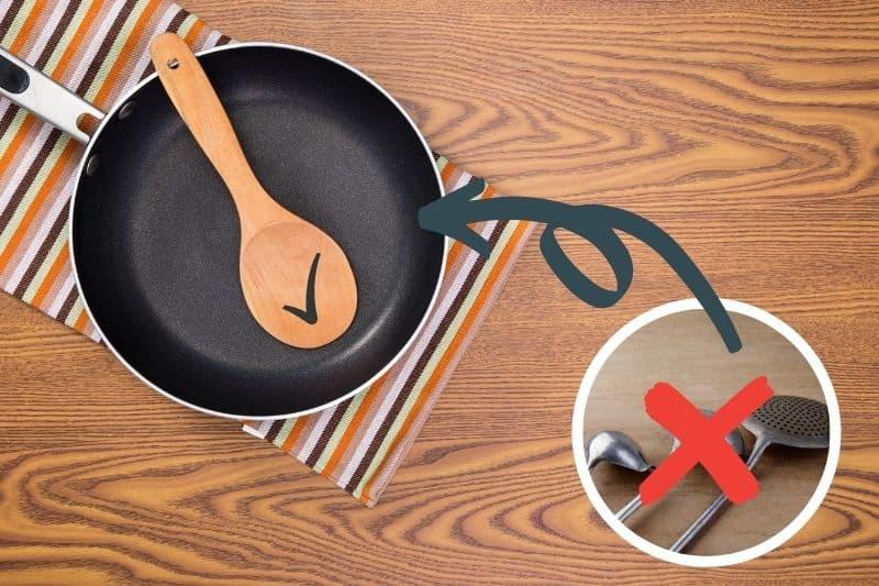 Do Not Use Metal Utensil on Non-Stick Pan