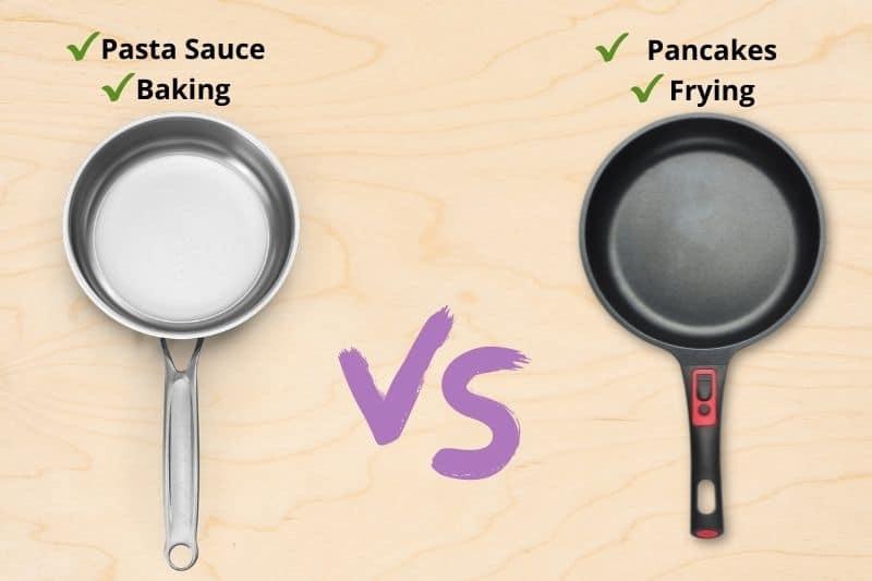 Stainless-Steel Pan vs Non-Stick Pan
