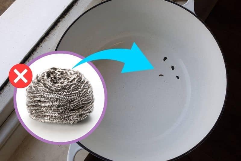 Steel Wool Damaging Le Creuset Cookware