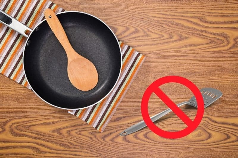 Use Wooden Spoon on Non-Stick Pans