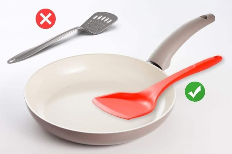 Using Silicon Spatula on Ceramic Pan